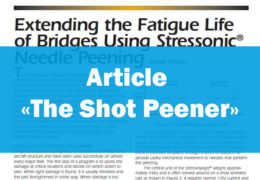 Extending the fatigue life of bridges using STRESSONIC® needle peening - SONATS