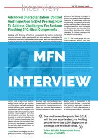 Interview MFN - De la caractérisation des matériaux au procédé de grenaillage - SONATS