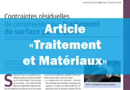 Traitement et matériaux - Contraintes résiduelles - SONATS