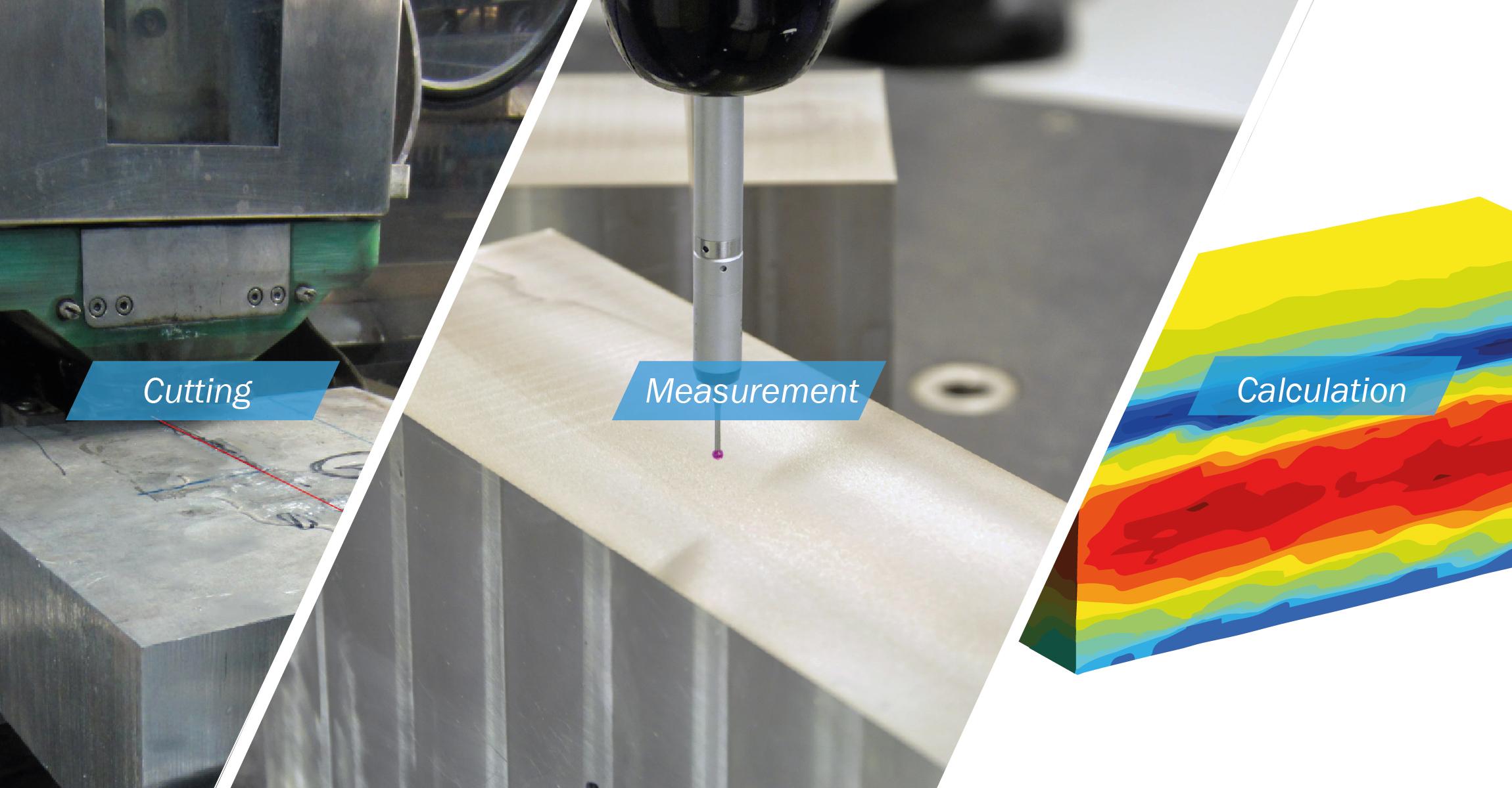 Contour method - residual stress measurement - SONATS